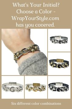 What's your initial? Is it G? Really doesn't matter. WrapYourStyle has you covered with six different color combinations to chose from and all the initials in the alphabet. #wrapyourstyle #initialbracelets #intitaljewelry #monograminitialbracelets #leathermonogramwrapbracelets #personalizedjewelry