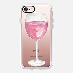 iPhone 7 Case Watercolor Red Wine Glass Wine Lover