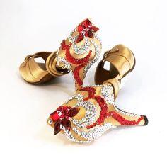 Latin dance shoes &  rhinestones