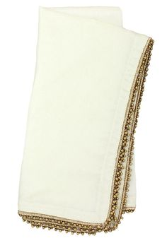 love the festive gold beading trim on these napkins