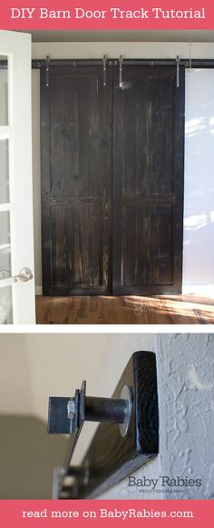 DIY Barn Door Track Tutorial #DIY #Decorating #HomeDecor