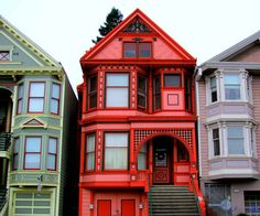 San Francisco California Victorians.  By: sfcabbie on Flickr.