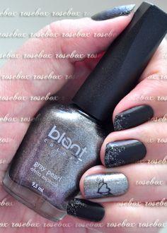 esmalte Blant gray pearl + nail art