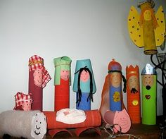 toddler-christmas-crafts... toilet paper roll nativity set