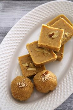 Magaj or magas recipe with step by step photos - Gujarati style of making besan burfi. It is made from ghee, coarse chickpea flour and sugar.