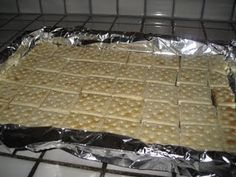 easy toffee cracker dessert.  I have a gathering coming up I might make this for.