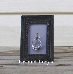 Simple black framed diy ring holder