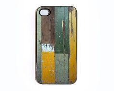 iphone 4 case Wall Texture 12 with Green and Mustard by wallsparks, $18.99