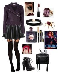 """""""Cheryl blossom Riverdale show"""" by layla-morin on Polyvore featuring ASOS, IRO, Charlotte Russe, McQ by Alexander McQueen, Dorothy Perkins, Ann Taylor, Yves Saint Laurent et MAC Cosmetics"""
