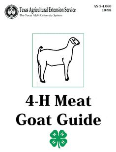South African Boer Goats - 4-H Meat Goat Guide