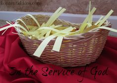 Create a manger filled with acts of service... love this idea!