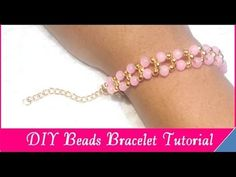 How To Make DIY Bracelet With String And Beads | Jewellery Box - YouTube