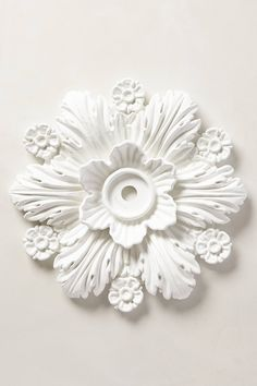 Cartouche Ceiling Medallion - anthropologie.com