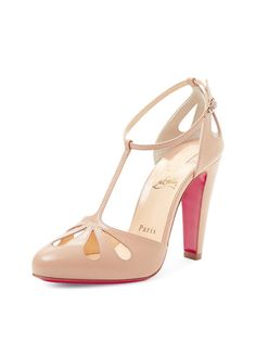 Amyada T-Strap Pump by Christian Louboutin at Gilt