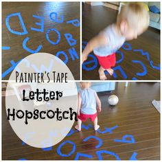 The Four H's Housewife: Serious Fun Saturdays: Letter Hopscotch