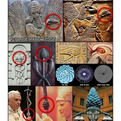 """The esoteric significance of the pinecone dates as far back as the ancient Babylonian mystery religions as a symbolic representation of the Pineal Gland (known as the """"Third Eye"""") which regulates the brain's output of DMT (known as the """"Spirit Molecule"""") Ancient Symbols, Ancient Aliens, Ancient Artifacts, Ancient Egypt, Ancient History, Objets Antiques, Symbolic Representation, Pineal Gland, Ancient Civilizations"""