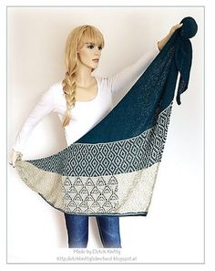 DUTCH KNITTY . BREIEN . LOL MET WOL: Laurier een mosaic -lace shawl ( Laurelie -Maliha designs)