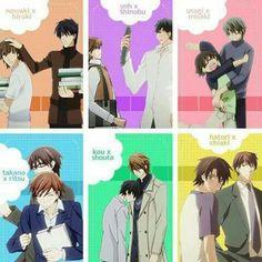 The best couples of all anime!! My favs love stories ~ Junjou Romantica & Sekaiichi Hatsukoi