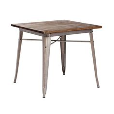 Bistro Dining Table in Rustic Wood | dotandbo.com http://www.dotandbo.com/collections/year-of-industrial-living/bistro-dining-table-rustic-wood $338.99