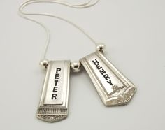 And look- they already have my boys' names on them! PersonaliZed 2 Spoon Ends Mothers Silverware Necklace-Silverware Jewelry. $29.99, via Etsy.