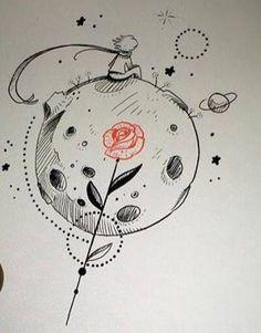 Resultado de imagem para pequeno principe tattoo