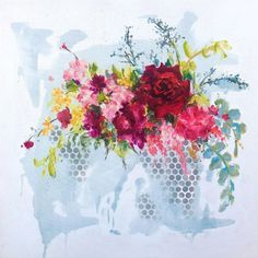 """HEIDI SHEDLOCK ▪️South Africa on Instagram: """"A beautiful Spring feel bouquet, although it's actually Autumn here and I'm so grateful for the cooler weather! This is ink and oil on…"""" South African Artists, Art Gallery, Bouquet, Floral Paintings, Pretoria, Autumn, Oil, Fine Art, Stretched Canvas"""