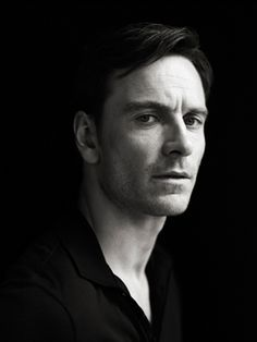Black and White Photography Portrait of Michael Fassbender by Richard Phibbs