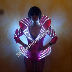 AS0807 Electronic Robot dance wear Led stage clothes luminous costume suits music clothing lighted party stage performance-in Ballroom from Novelty & Special Use on Aliexpress.com | Alibaba Group