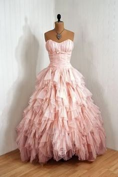 Pink ruffle dress, I like these edgy ruffles, they look more elegant.