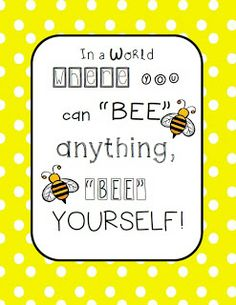 The Hands-On Teacher: Made it Monday (on Tuesday): Bee Classroom Poster!