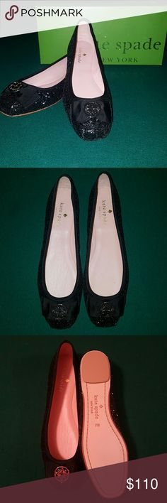 FLASH SALE! Kate Spade Fontana Too Flats This listing is for a pair of Kate Spade Fontana to Black glitter ballerina Flats. These flats are brand new, never worn and come in box. These flat are size 8, and run true to size. The hardware on the toes has no scratching at all. These flats are absolutely gorgeous! They would be perfect dressed up or dressed down. kate spade Shoes Flats & Loafers
