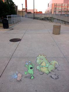 Sluggo Chalk Art