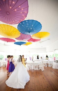 Would look amazing with white or monochromatic umbrellas Fab You Bliss, Nashville Wedding Photographers Jen & Chris Creed, High Bridge Pavilion wedding 010 Rainbow Wedding, Summer Wedding, Wedding Reception, Dream Wedding, Wedding Day, Umbrella Decorations, Wedding Decorations, Umbrella Wedding, Wedding Umbrellas