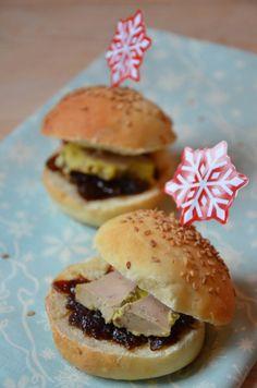 Idée mini apéro de Noel : Mini burgers de foie gras