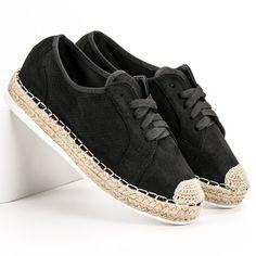 #Espadryle #Damskie #IdealShoes #Ideal #Shoes #Czarne #Sznurowane #Espadryle Espadrilles, Flats, Shoes, Fashion, Espadrilles Outfit, Loafers & Slip Ons, Moda, Zapatos, Shoes Outlet