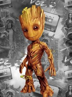 Baby Groot poster by from collection. By buying 1 Displate, you plant 1 tree. Game Wallpaper Iphone, Galaxy Wallpaper, Cartoon Wallpaper, Winter Soldier, Guardians Of The Galaxy, Baby Groot Tattoo, Groot Comics, Baby Avengers, Groot Avengers
