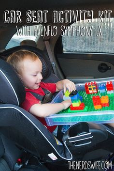 Car Seat Activity Kit with DIY Lego Tray -- perfect with the Evenflo Symphony LX #EvenfloPlatinum