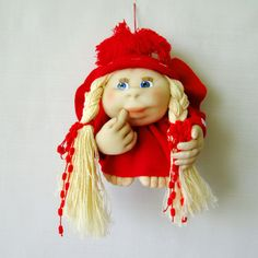 Red doll Handmade dolls Interior doll Doll on by mymomsshop1
