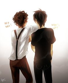 Leo Valdez and Nico Di Angelo. Lico is my favorite never-will-be-canon ship. (As opposed to ReyRae and Nico/Will Solace, which aren't canon, but could be)     The actual feels of one picture