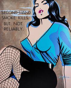 Second Hand Smoke :: Limited edition Niagara giclee via niagaradetroit.com