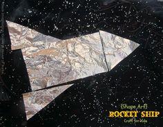 House of Burke: Rocket Ship Shape Craft for Kids
