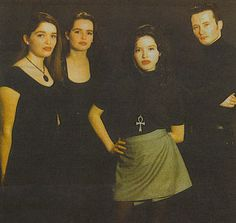 Silings Caroline Corr, Sharon Corr, Andrea Corr and Jim Corr, from The Corrs, ca.1995.