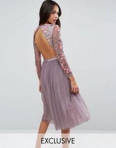 Платье миди из тюля Needle & Thread