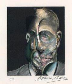 Litografía - Francis Bacon - Portrait of Michel Leiris