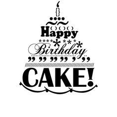 Stempel Happy Birthday Cake