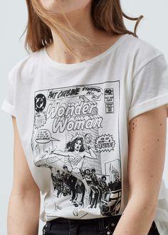 Bedrucktes baumwoll-t-shirt | MANGO