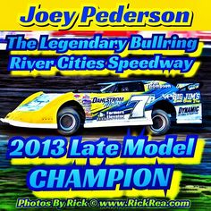Joey Pederson The Legendary Bullring River Cities Speedway 2013 Late Model Track Champion #bestdirttrack #joeypederson #latemodel #latemodels #dirtlife #dirtsforracing #godirt #dirttrack #racing #speedway #racecar #justdodirt #thedirtlife #racecardriver #dirttrackracing #elbowsup #wheelsup #fast #photosbyrick #fun #goodtime #happytimes #dirt #gotdirt