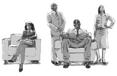 Ilustração para maquetes de anúncios – simulação de fotografia.