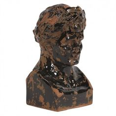 Inspired by classic antiquities, this lovely weathered ceramic bust infuses your decor with stately appeal. Product: Bust decorConstruction Material: CeramicColor: Brown and blackDimensions: H x W x D Rustic Ceramics, Ancient Romans, Joss And Main, Signature Style, Combat Boots, Lion Sculpture, Elegant, Antiques, Classic