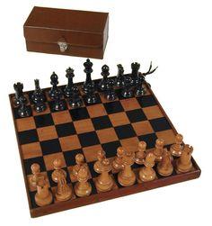 Emma - Chess Board & Chess Set (England). Georgian, slightly later than Regency, but close
